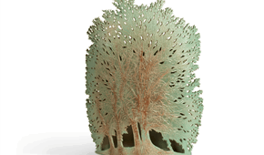 Big tree, open worked stoneware, glazed. © Elysia Verhoeven, 2014.