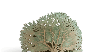 Leggelderveld tree, graphic-ceramics, open worked glazed stoneware. © 		Elysia Verhoeven, 2014.